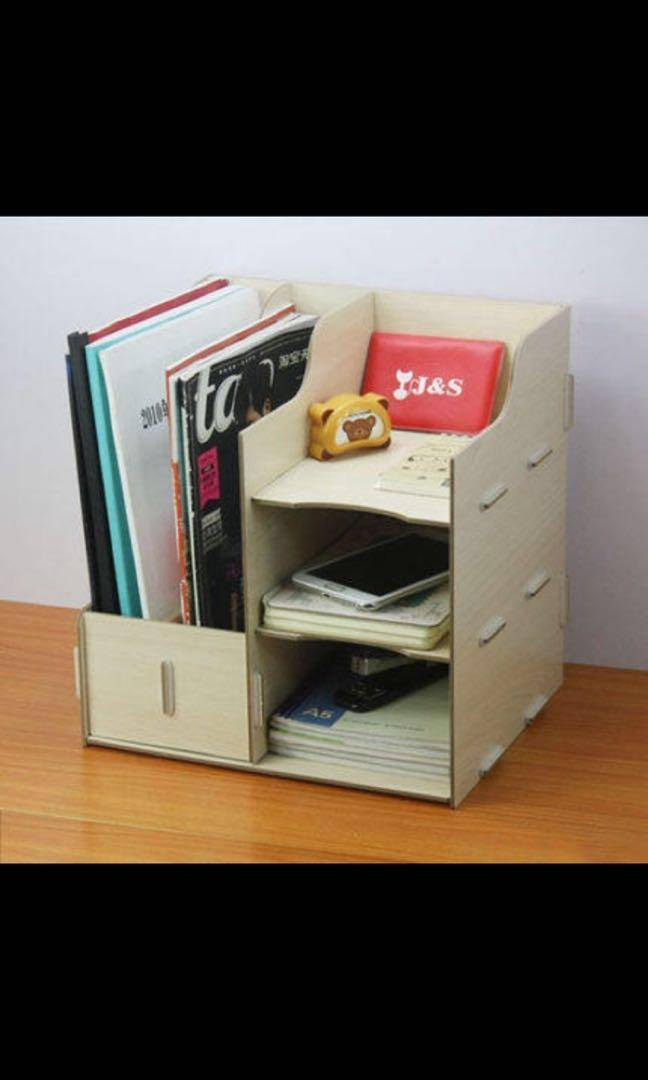 Admirable Diy Table Organiser Organizer Book Shelf Office Desk Beutiful Home Inspiration Aditmahrainfo