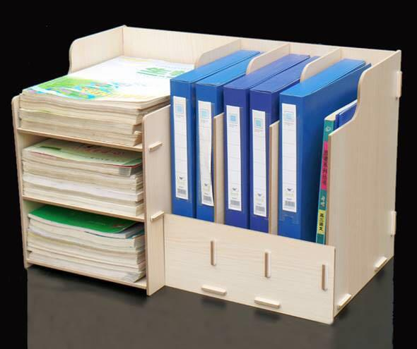Cool Diy Table Organiser Organizer Book Shelf Office Desk Beutiful Home Inspiration Aditmahrainfo