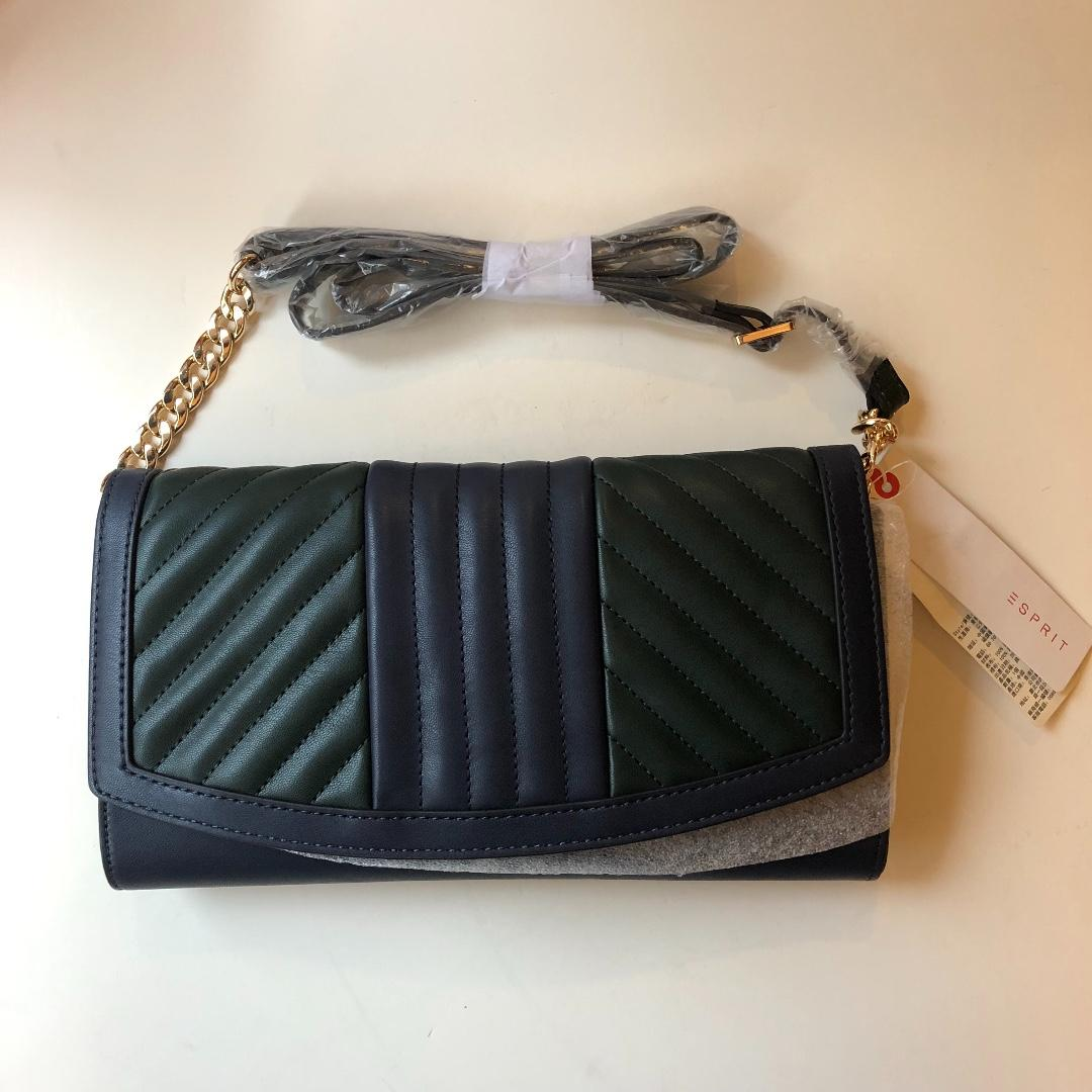 Esprit colour block should bag/ clutch