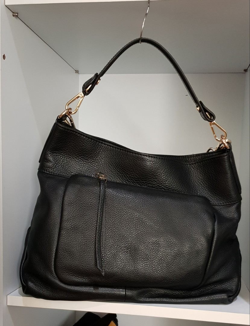 5556194ffc Gianni Chiarini Made in Italy Black Leather Shoulder Bag