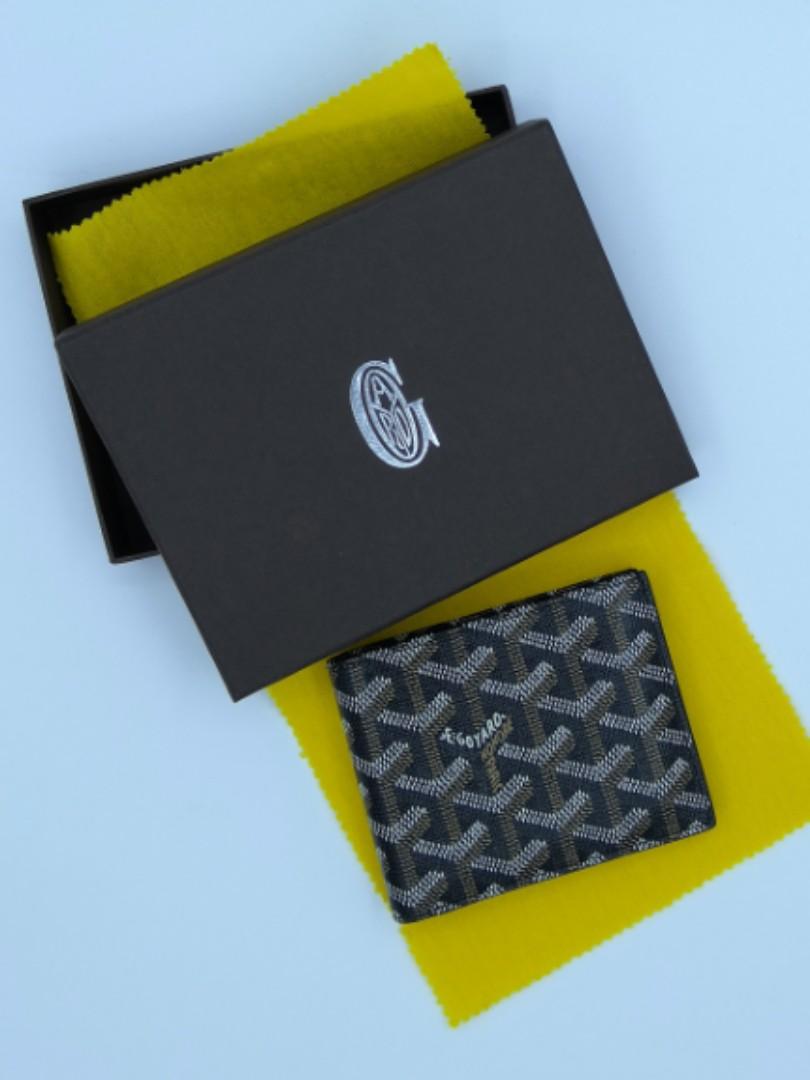 56edde408a24 Goyard Mens Wallet Leather Billfold Classic Black Monogram, Luxury ...