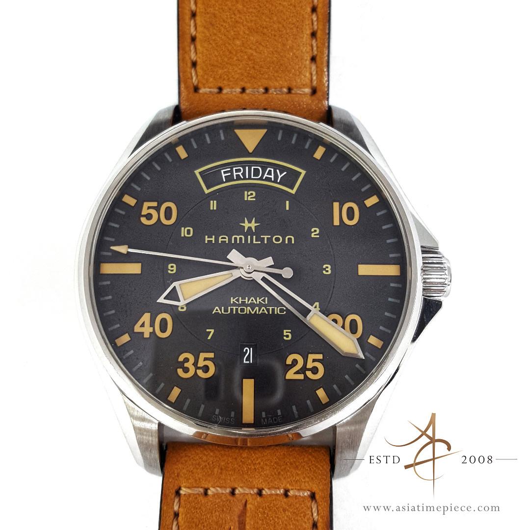 6f485d142 Hamilton Khaki Pilot Day-Date Swiss Automatic Watch H64645531 (Still ...