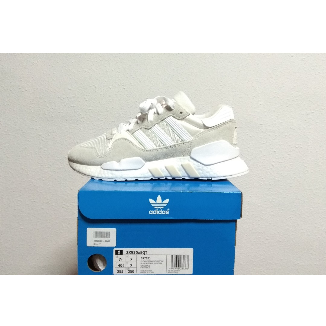 the latest 64c98 15f07 UK7 Adidas ZX930xEQT Cloud White, Mens Fashion, Footwear, Sneakers on  Carousell