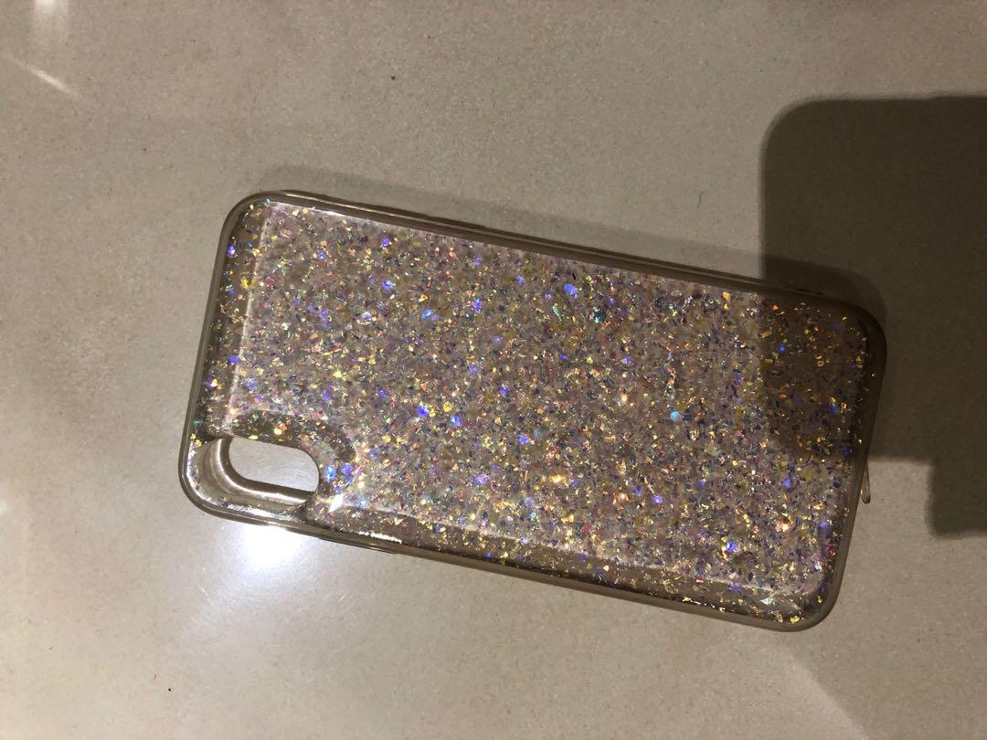 iPhone X sparkly cover