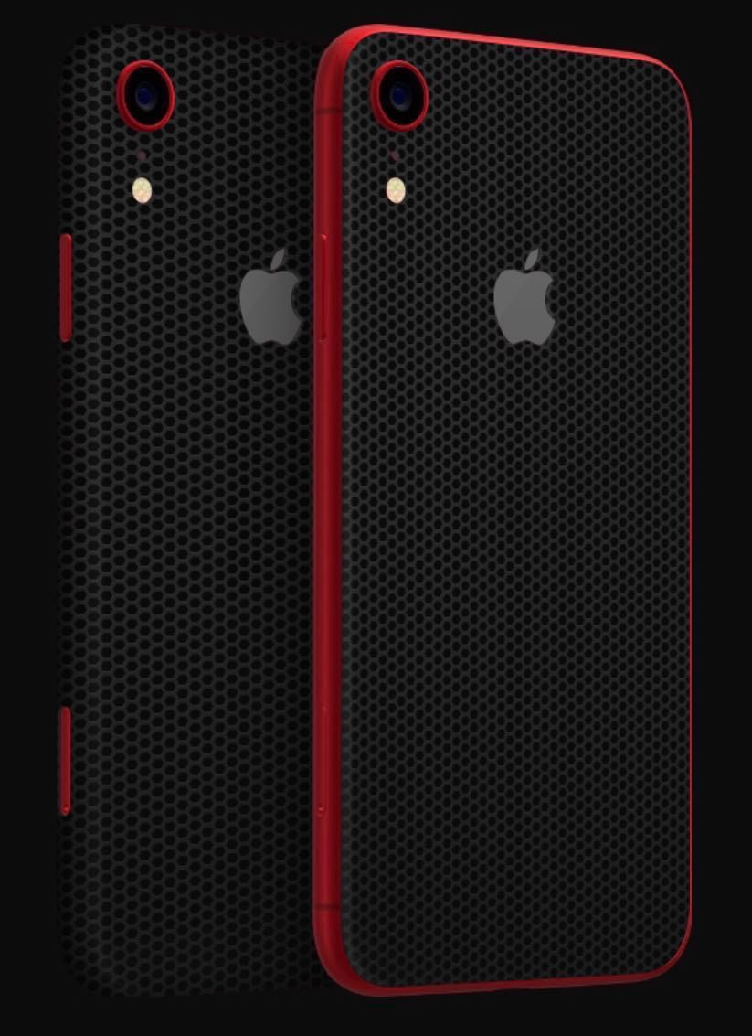 reputable site b934d b0fc8 iPhone XR dbrand skin Matte Black & Matrix Black