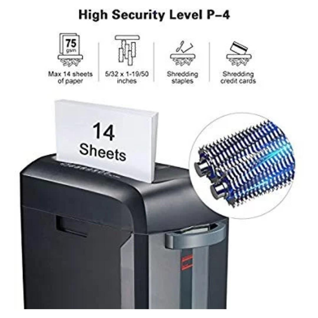 A4 PAPER ELECTRIC SHREDDER STRIP CUT SHREDDING CARD DOCUMENT BIN CREDIT CARDS