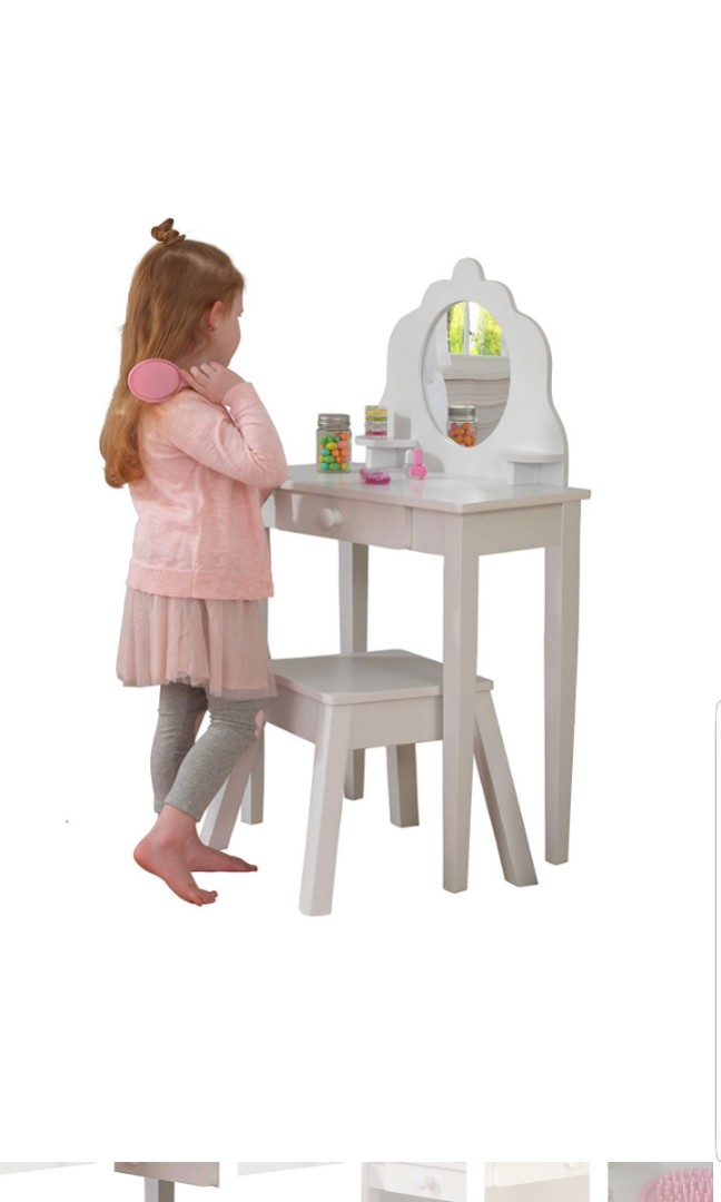 Kidkraft Kids Children Dressing Table And Chair Stool Medium Diva