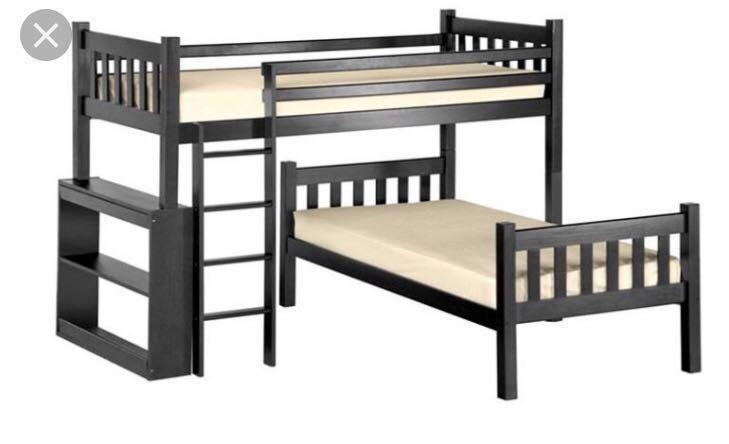 L Shape Bunk Bed Furniture Beds Mattresses On Carousell