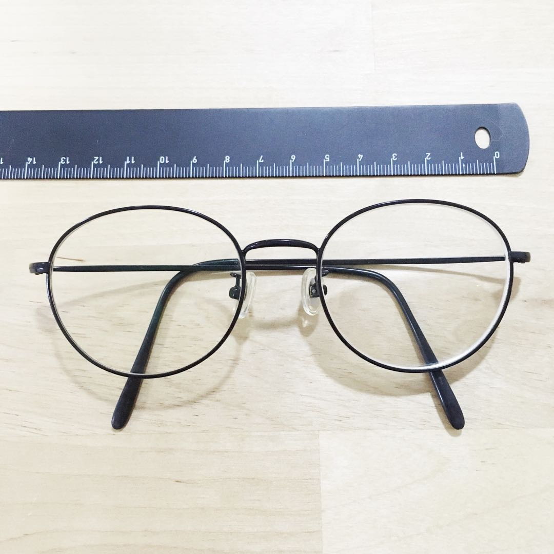 867e392b06 Look Optical Korea - Black Wire Rimmed Round Prescription Spectacles ...