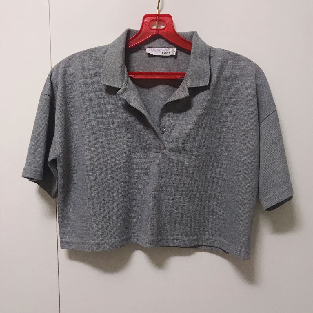 91892ac6 Love bonito crop polo tee, Women's Fashion, Clothes, Tops on Carousell
