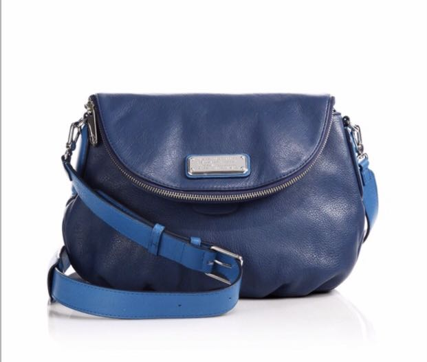 Marc By Marc Jacobs Women s Blue Classic Q Natasha Two-tone Leather ...