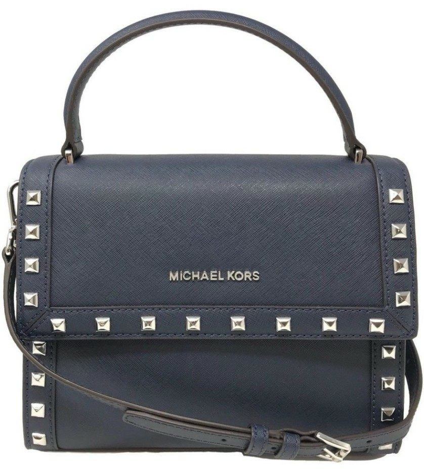 8229d0416e60 BRAND NEW Michael Kors Dillon Stud Messenger Crossbody Bag (Black ...