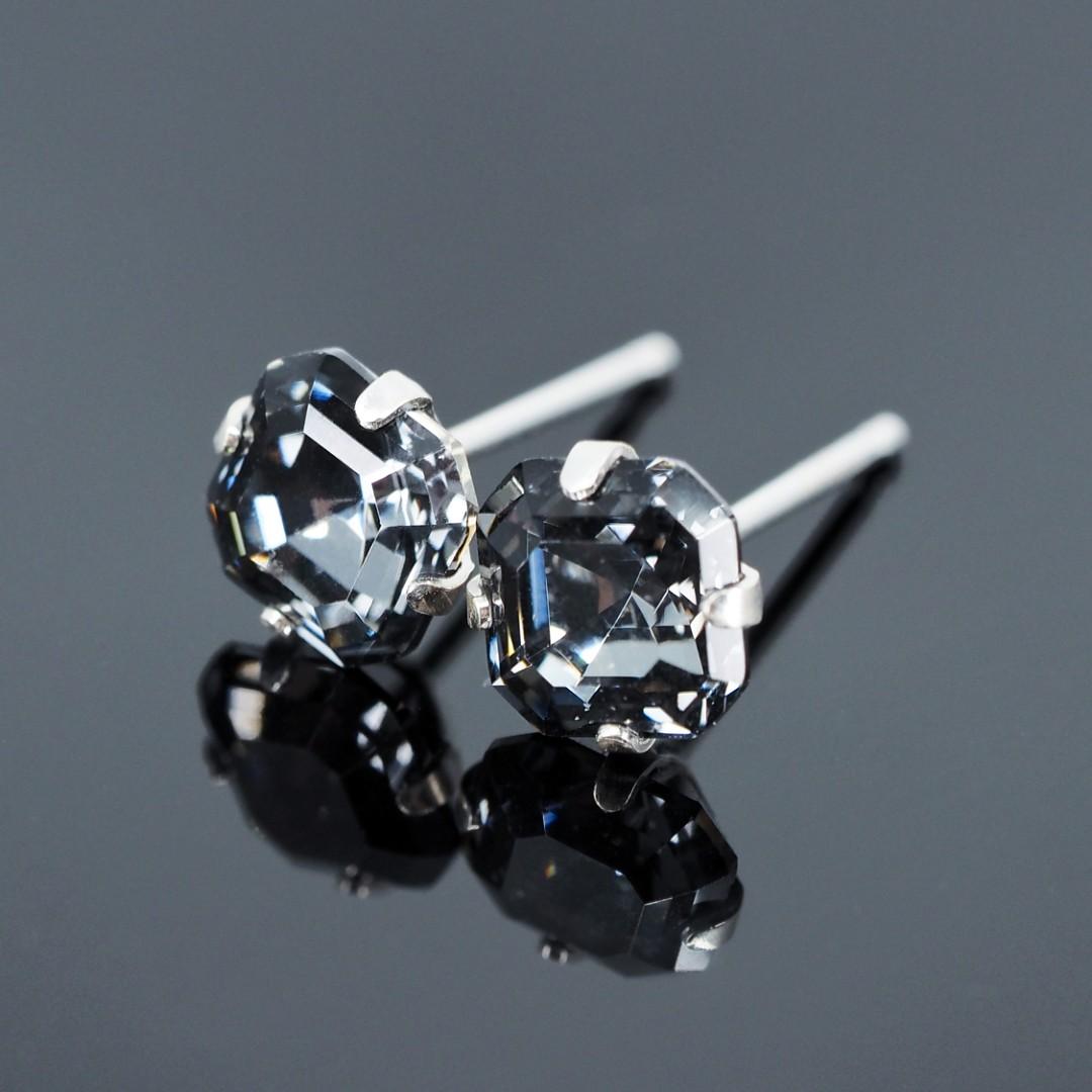 60f0c4ace Midnight Black Imperial Swarovski 925 Sterling Silver Earrings - 6mm ...