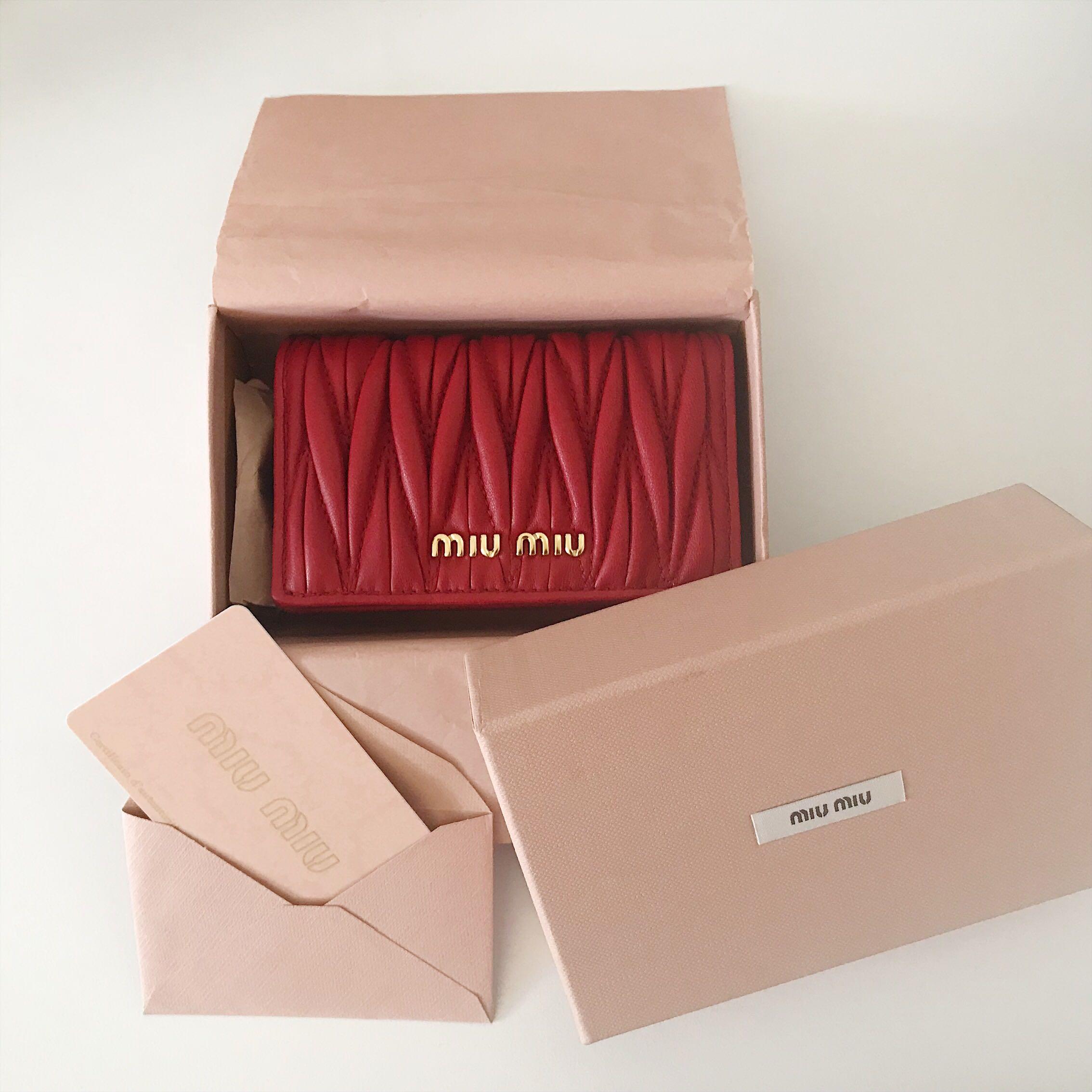 8fa8d78a5455 Miu Miu Cardholder Mini Wallet