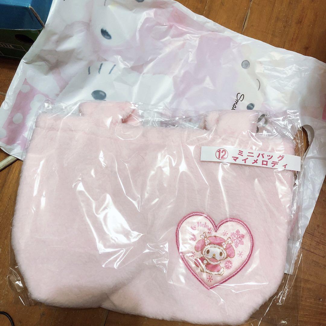 My Melody 小手袋 毛毛袋 Sanrio 一番賞 日本 正版