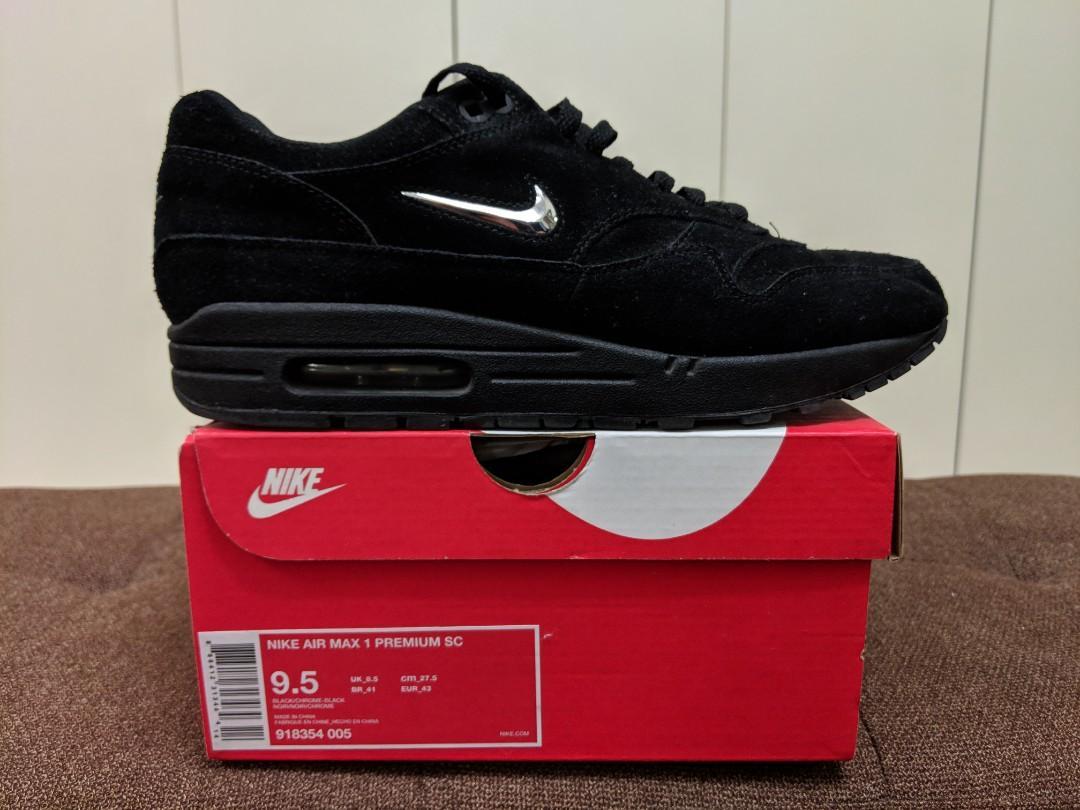 Nike Air Max 1 Premium SC Jewel Black & Chrome | SLEEPER