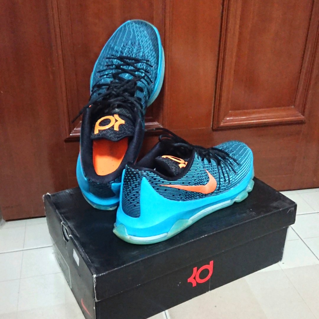 26b961ef42dd 50% Off Nike KD 8 US 13   UK 12 Blue Lagoon Bright Citrus-Black-Tide ...