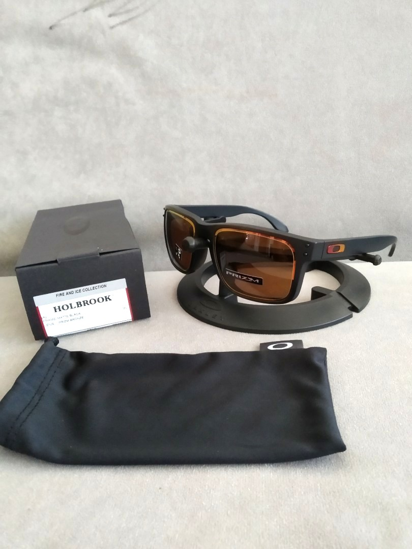 acd380673b Oakley asian fit holbrook fire and ice collection prizm bronze ...