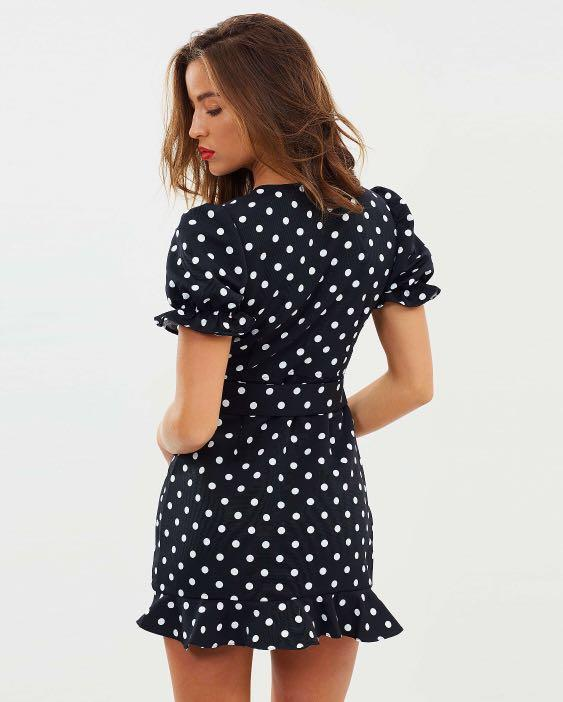 Polka Dot Plunge Dress