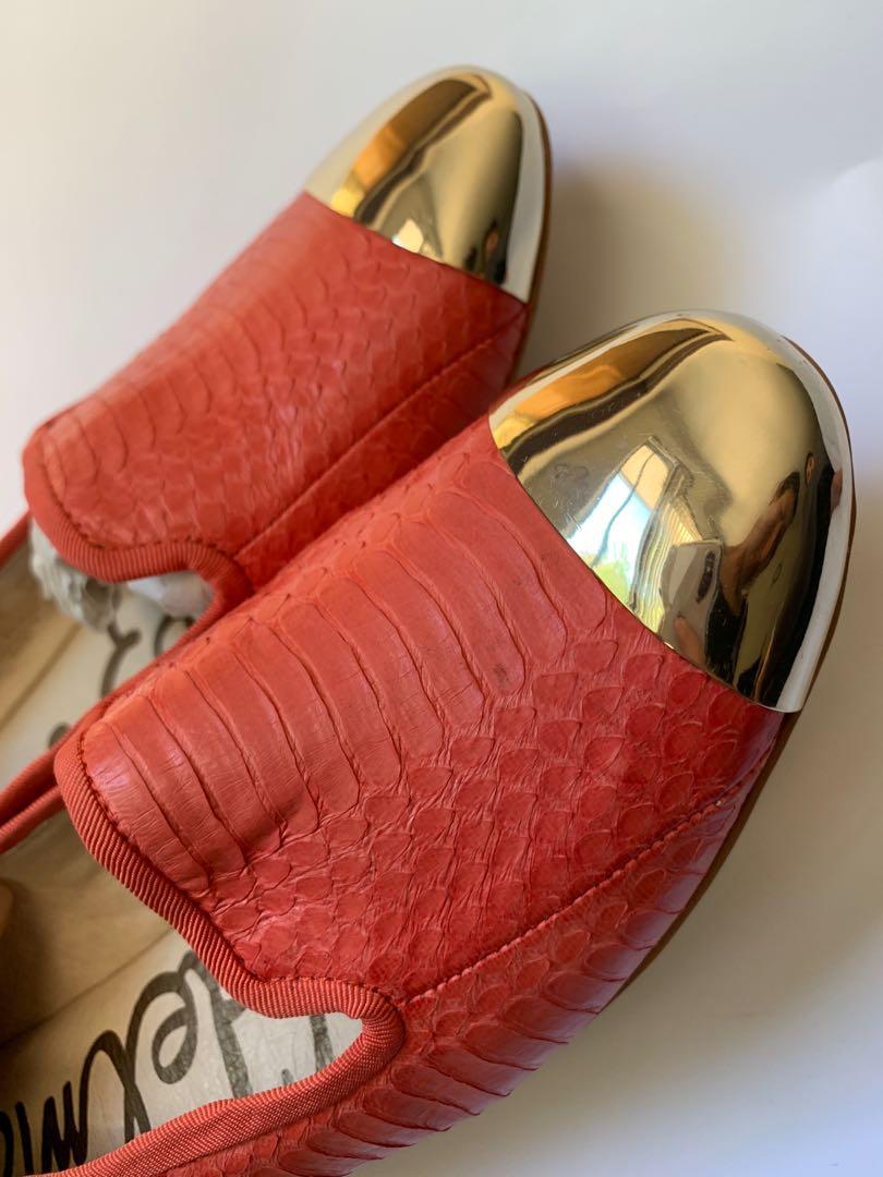 Sam Edelman pink cap toe flats
