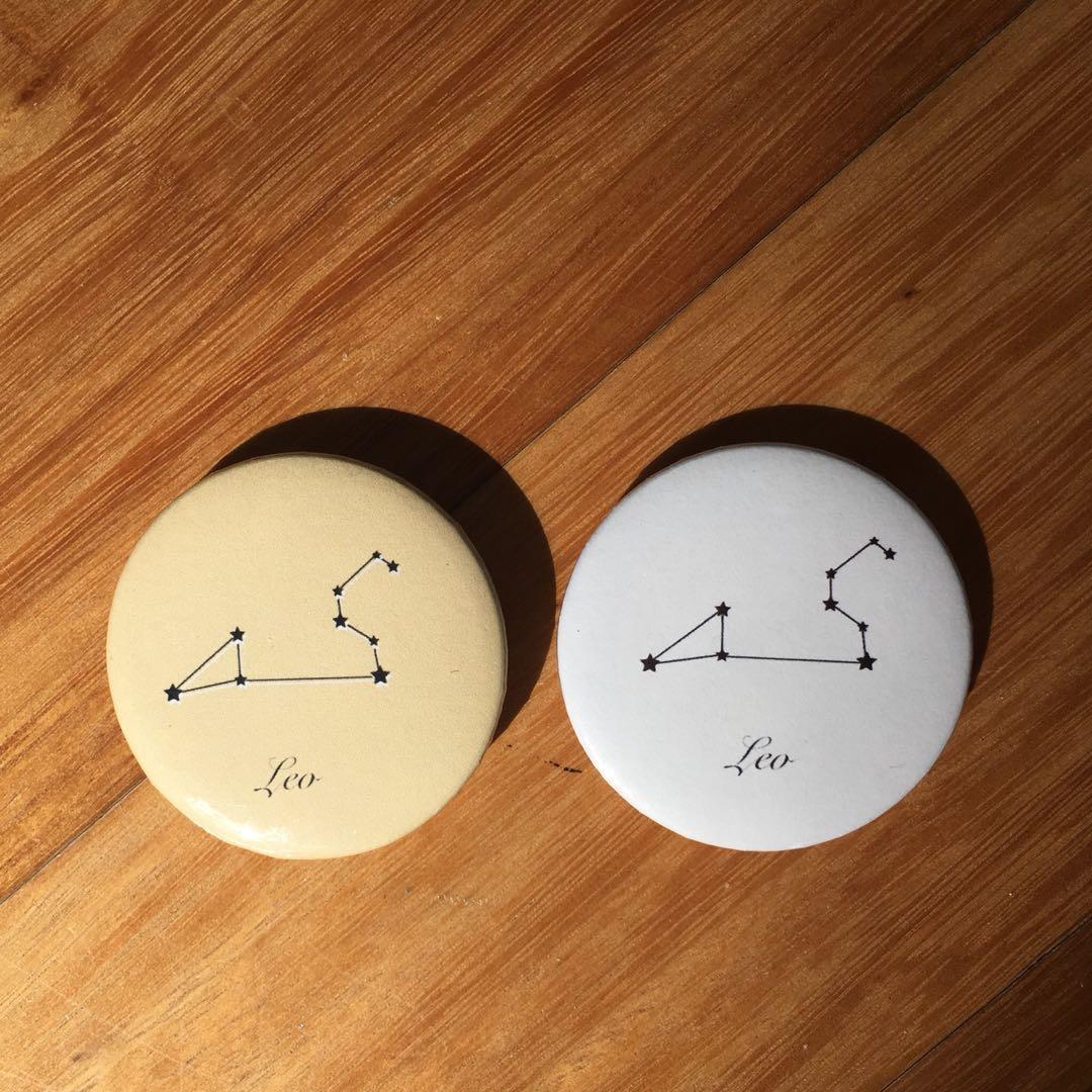 Star Sign Constellation Pin Badge Button Zodiac Leo/Sagittarius/Scorpio/Taurus/Pisces/Virgo