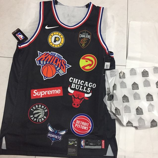 86b55ee0 Supreme Nike NBA Teams Authentic Jersey (black) - size: large (48 ...