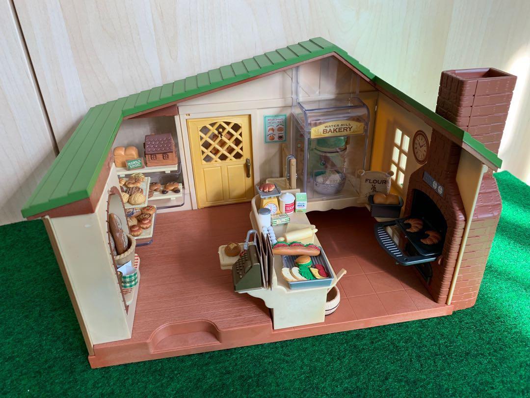 Sylvanian Families Watermill Bakery Toys Games Bricks