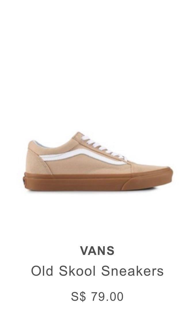 f38c2f054f Vans Old Skool Beige   Brown Gum Sole Sneakers