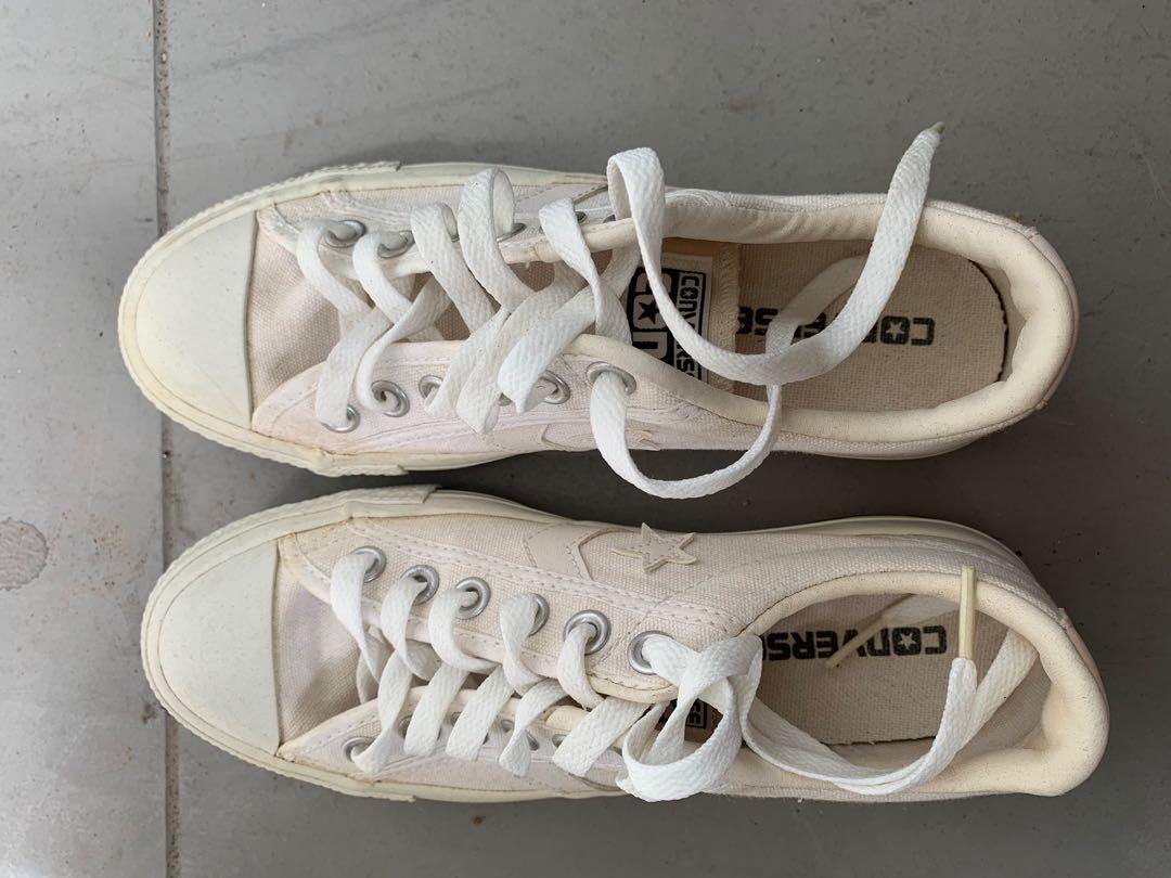 39ff24fcef56 White Converse Leather School Shoes