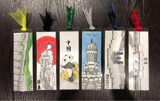 handmade custom bookmarks