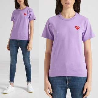 Comme des Garcons PLAYColour Series Logo Tee (Purple) XS
