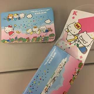 Eva Air Hello Kitty Poker Card