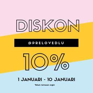 DISKON 10% ALL PRODUCT
