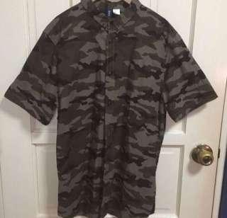 H&M Camo Buttondown Shirt