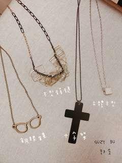造型項鍊十字架眼鏡多款