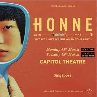 LF: Honne Day 2 Ticket