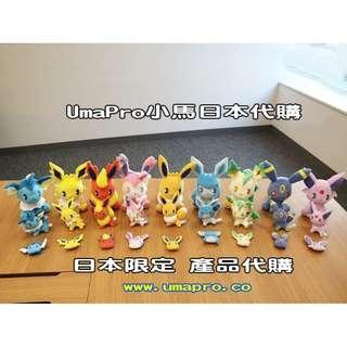 Pokemon Center 日本限定 伊貝毛公仔系列