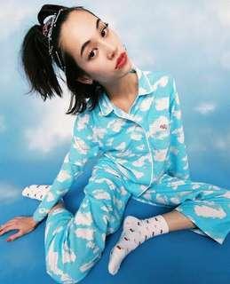 🚚 水原希子 自創品牌 OK 睡衣 居家服 天空 雲朵 全新