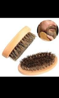 Natural Boar Bristle Beard Brush For Men Facial Face Massager Bristle Hair Shaving Brush
