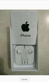 Jual earphone / headset original from iphone 5s like a new