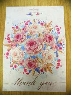 Thank you Card Rose Gold Girly Photo