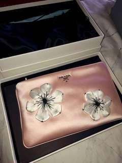 Authentic Prada Floral Clutch *Unused