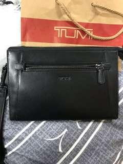 Tumi Double zip clutch