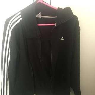 Black and White Adidas Jacket