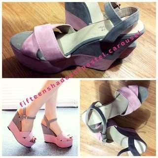 Pink Grey Wedges
