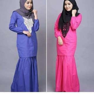 Baju kurung (Royal Blue)