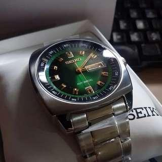 Seiko Re-Crafted Green Vintage SNKM97 SNKM97K1