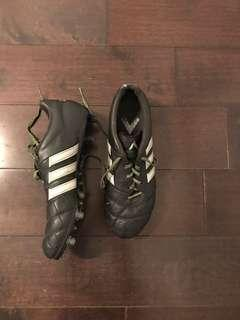 Adidas Men's Black Leather Cleats