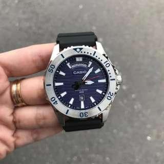 Casio Diver 100m Blue Dial Rubber Strap MTD-1087-2A Original