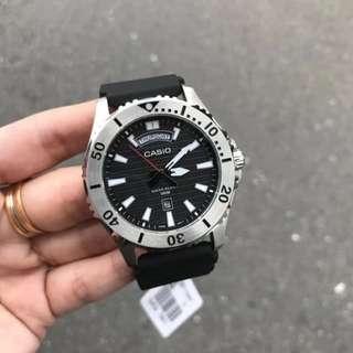 Casio Diver 100m Black Dial Rubber Strap MTD-1087-1A Original